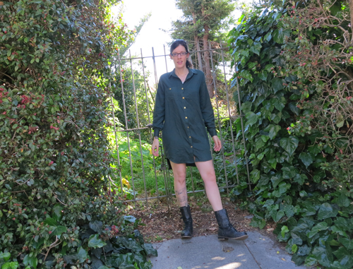 green rayon challis archer grainline dress