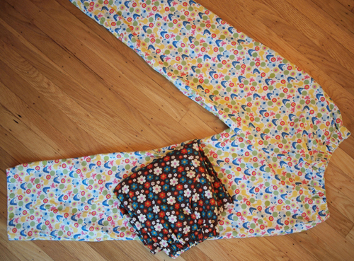 Two Pair simple flannel pajama bottoms