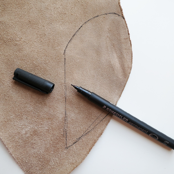 draw on leather back with permanent marker