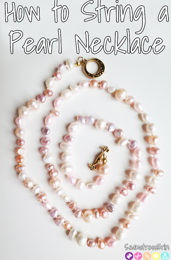 how to string pearl necklace