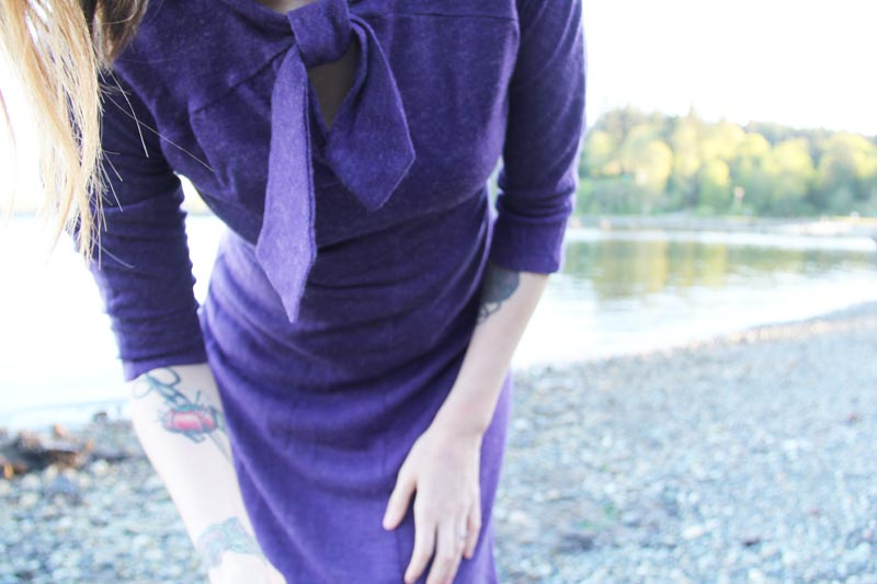 purple wool jersey dresss 2