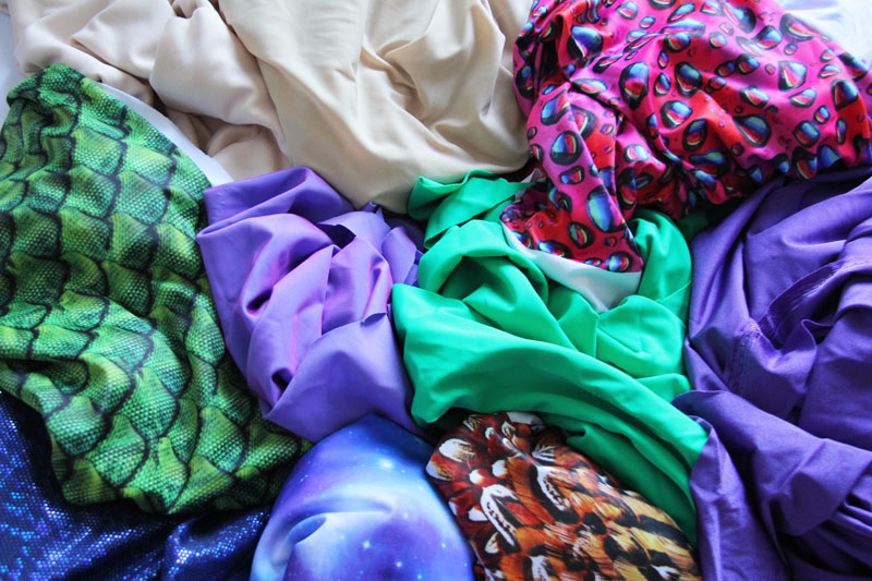 variety of swimsuit fabrics